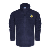 Columbia Full Zip Navy Fleece Jacket-UCO with Mascot