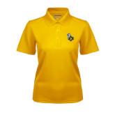 Ladies Gold Dry Mesh Polo-UCO with Mascot
