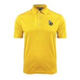 Gold Dry Mesh Polo-UCO with Mascot