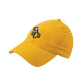 Gold Flexfit Mid Profile Hat-UCO with Mascot