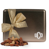 Deluxe Nut Medley Gold Large Tin-Official Logo Engraved