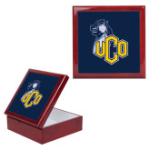 Red Mahogany Accessory Box With 6 x 6 Tile-UCO with Mascot