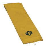 Gold Golf Towel-Official Logo