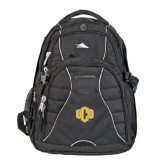 High Sierra Swerve Black Compu Backpack-Official Logo