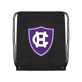 Black Drawstring Backpack-HC Shield
