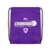Purple Drawstring Backpack-2017 Patriot League Mens Champions Baseball