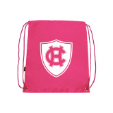Nylon Pink Drawstring Backpack-HC Shield