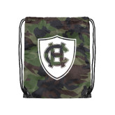 Nylon Camo Drawstring Backpack-HC Shield