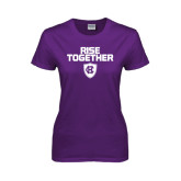 Ladies Purple T Shirt-Rise Together
