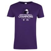 Ladies Purple T Shirt-2019 Football Champs