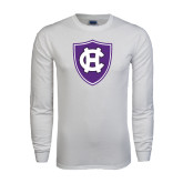 White Long Sleeve T Shirt-HC Shield
