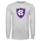 White Long Sleeve T Shirt-HC Shield