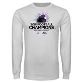 White Long Sleeve T Shirt-2019 Football Champs