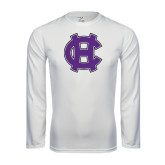 Performance White Longsleeve Shirt-Interlocking HC