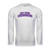 Syntrel Performance White Longsleeve Shirt-Holy Cross Crusaders Arched