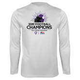 Performance White Longsleeve Shirt-2019 Football Champs
