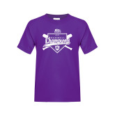 Youth Purple T Shirt-2017 Patriot League Mens Champions Baseball