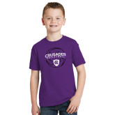 Youth Purple T Shirt-Vollyball In Ball