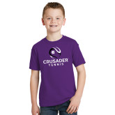 Youth Purple T Shirt-Tennis Abstract Ball