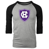 Grey/Black Tri Blend Baseball Raglan-HC Shield