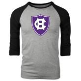 Grey/Black Tri Blend Baseball Raglan-HC Shield