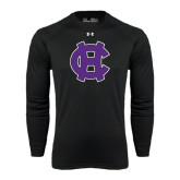 Under Armour Black Long Sleeve Tech Tee-Interlocking HC