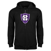 Black Fleece Full Zip Hoodie-HC Shield