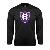 Performance Black Longsleeve Shirt-HC Shield