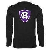 Performance Black Longsleeve Shirt-HC Shield