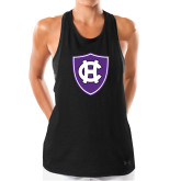Ladies Under Armour Black Pinhole Tank-HC Shield