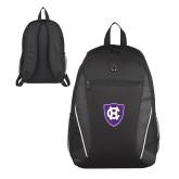 Atlas Black Computer Backpack-HC Shield