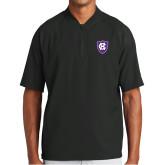 New Era Black Cage Short Sleeve 1/4 Zip-HC Shield