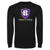 Black Long Sleeve T Shirt-Holy Cross Track and Field