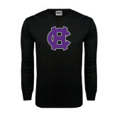 Black Long Sleeve TShirt-Interlocking HC