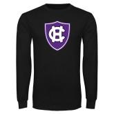 Black Long Sleeve T Shirt-HC Shield