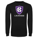 Black Long Sleeve T Shirt-Lacrosse