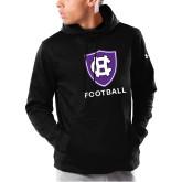 Under Armour Black Armour Fleece Hoodie-Football