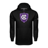 Under Armour Black Performance Sweats Team Hoodie-HC Shield