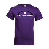 Purple T Shirt-Crusaders Football Horizontal