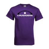 Purple T Shirt-Crusaders Football Horizontal