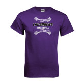 Purple T Shirt-Baseball Stitches