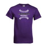 Purple T Shirt-Baseball Stitches