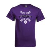 Purple T Shirt-Softball Stitches