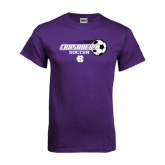 Purple T Shirt-Soccer w/ Flying Ball