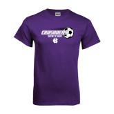 Purple T Shirt-Soccer w/ Flying Ball