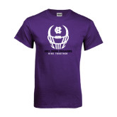 Purple T Shirt-Distressed Football Helmet
