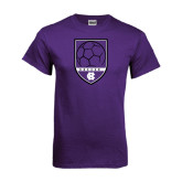 Purple T Shirt-Soccer Shield Design