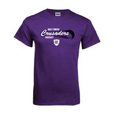 Purple T Shirt-Hockey Puck Design