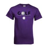 Purple T Shirt-Golf Ball Design