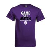 Purple T Shirt-Game Set Match - Tennis Design